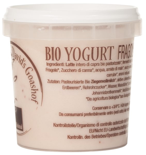 Ziegenjoghurt Erdbeere Bio - David´s Goashof