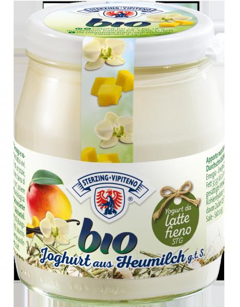 Mango-Vanille Vollmilchjoghurt aus Heumilch Bio