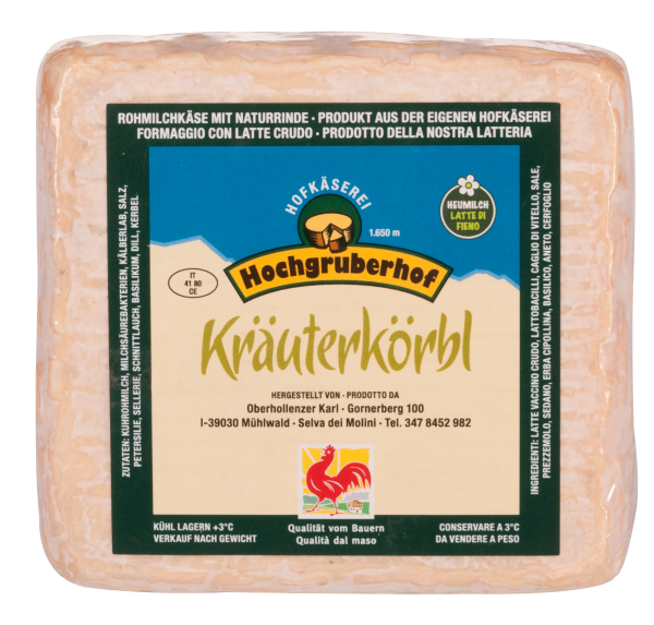 "Weichkäse ""Kräuterkörbl"" - Hochgruberhof"
