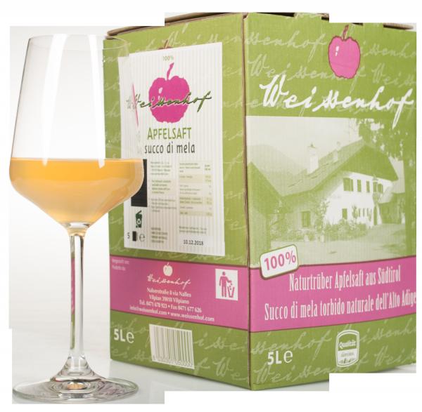 Apfelsaft naturtrüb Bag in Box - Weissenhof