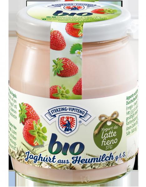 Erdbeer Vollmilchjoghurt aus Heumilch Bio - Milchhof Sterzing