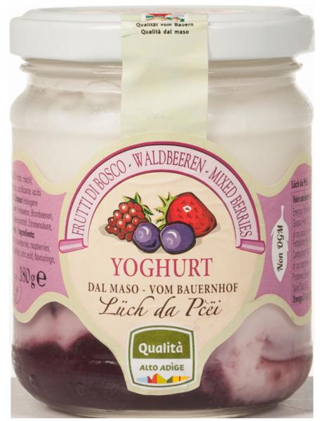 Waldbeer-Joghurt vom Bauernhof